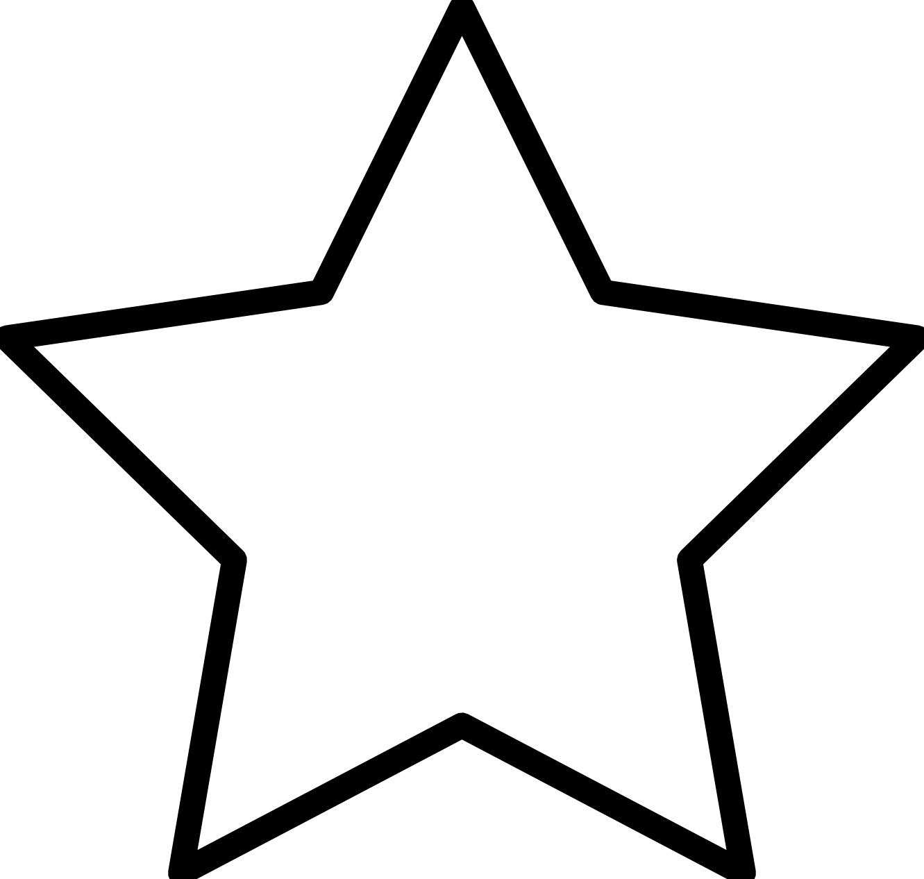star outline coloring page shooting star outline free download on clipartmag page coloring star outline