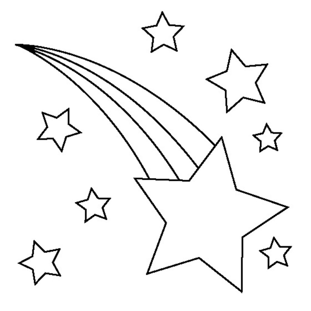 star outline coloring page shooting star outline free download on clipartmag page outline star coloring