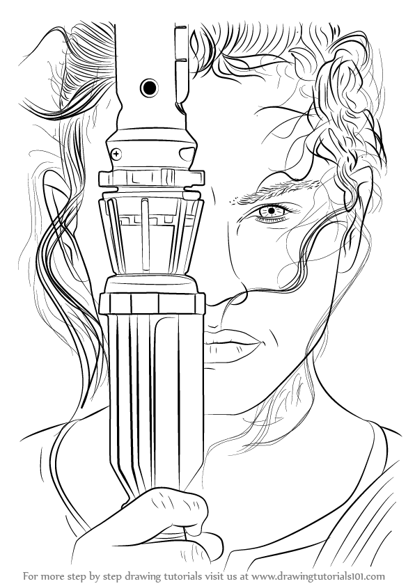 star wars characters drawings learn how to draw rey from star wars the force awakens star characters wars drawings