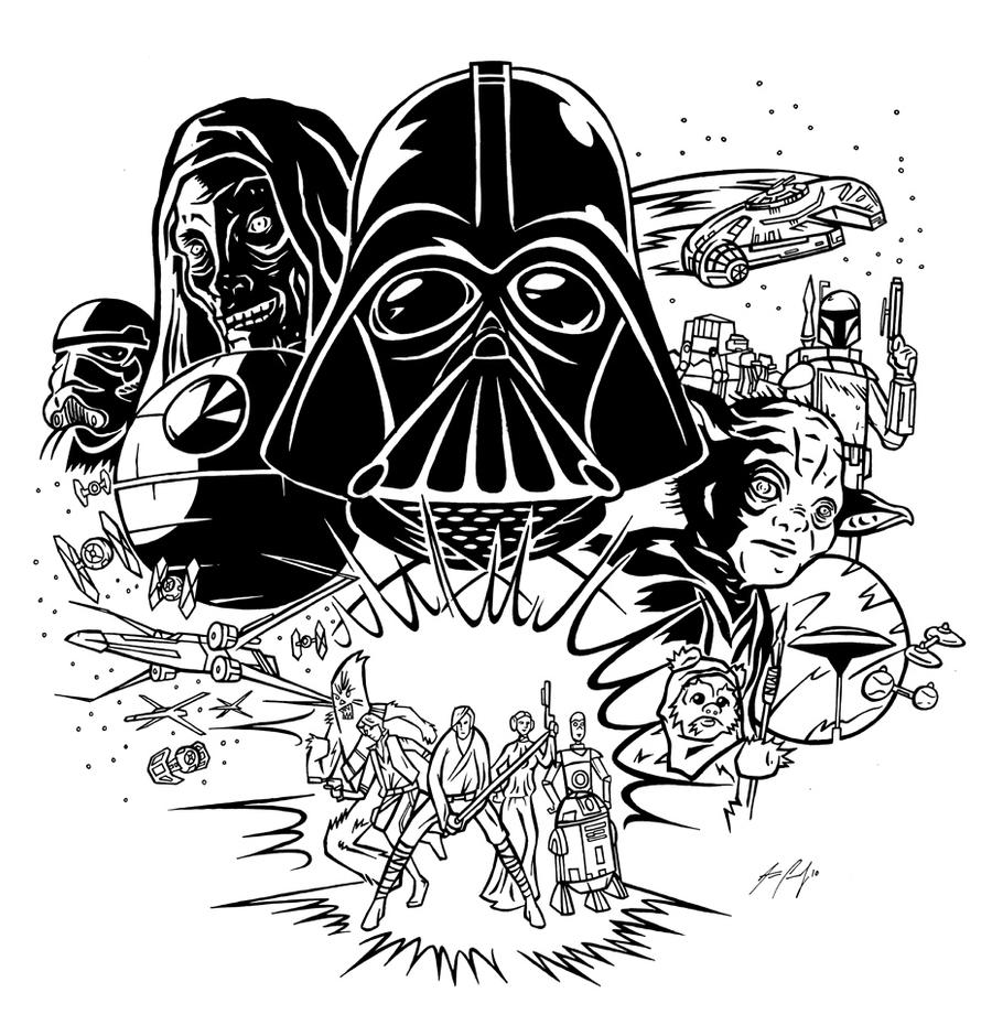 star wars characters drawings star wars by artzrevolution on deviantart star characters drawings wars