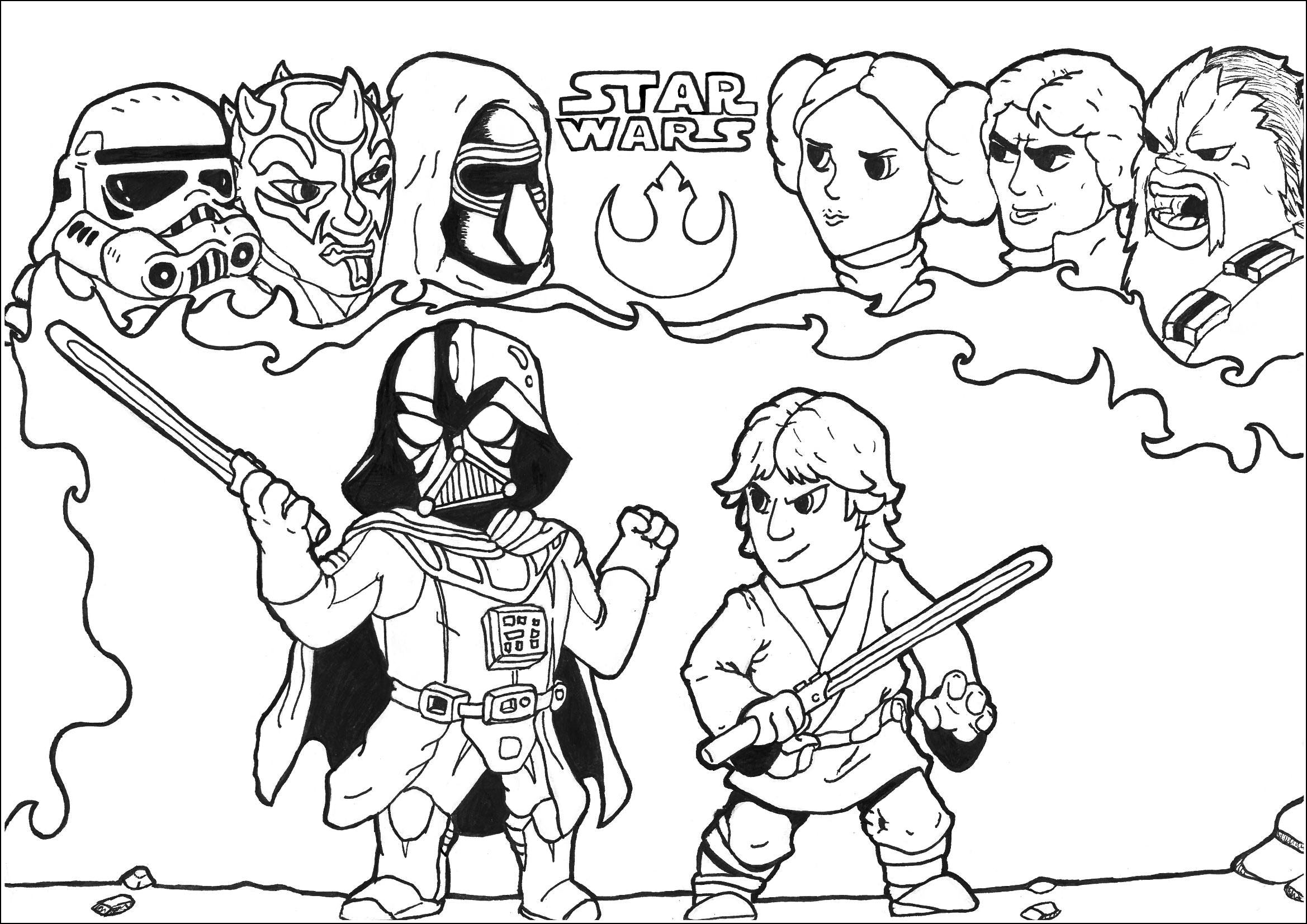 star wars coloring pages for kids free printable star wars coloring pages free printable kids pages for coloring star wars