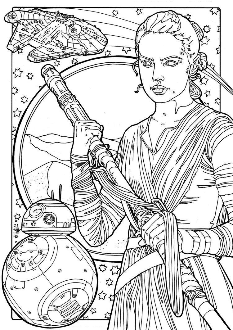 star wars rey coloring pages rey by miasteingraeber on deviantart with images star rey pages wars star coloring