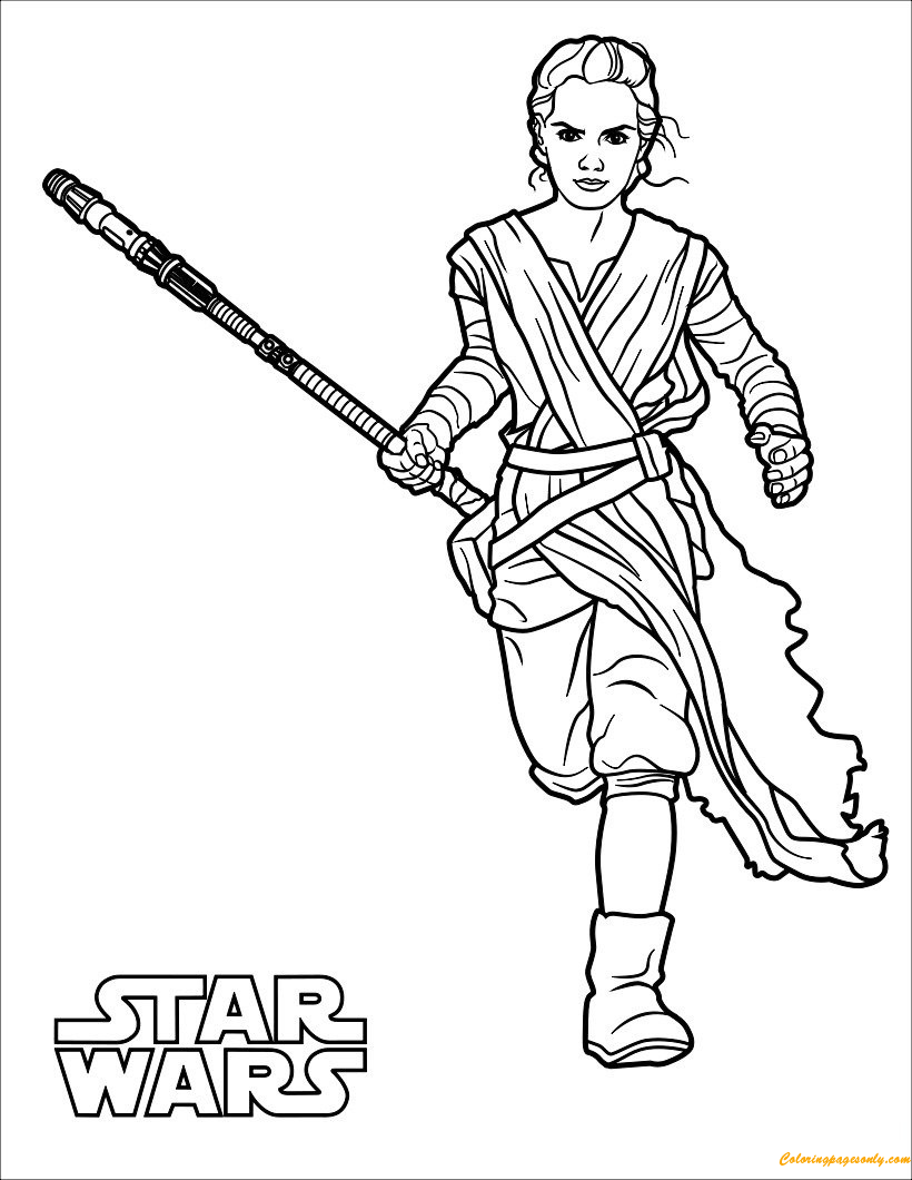 star wars rey coloring pages rey coloring page free coloring pages online wars coloring rey star pages