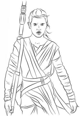 star wars rey coloring pages rey from the force awakens coloring page free printable pages coloring rey star wars