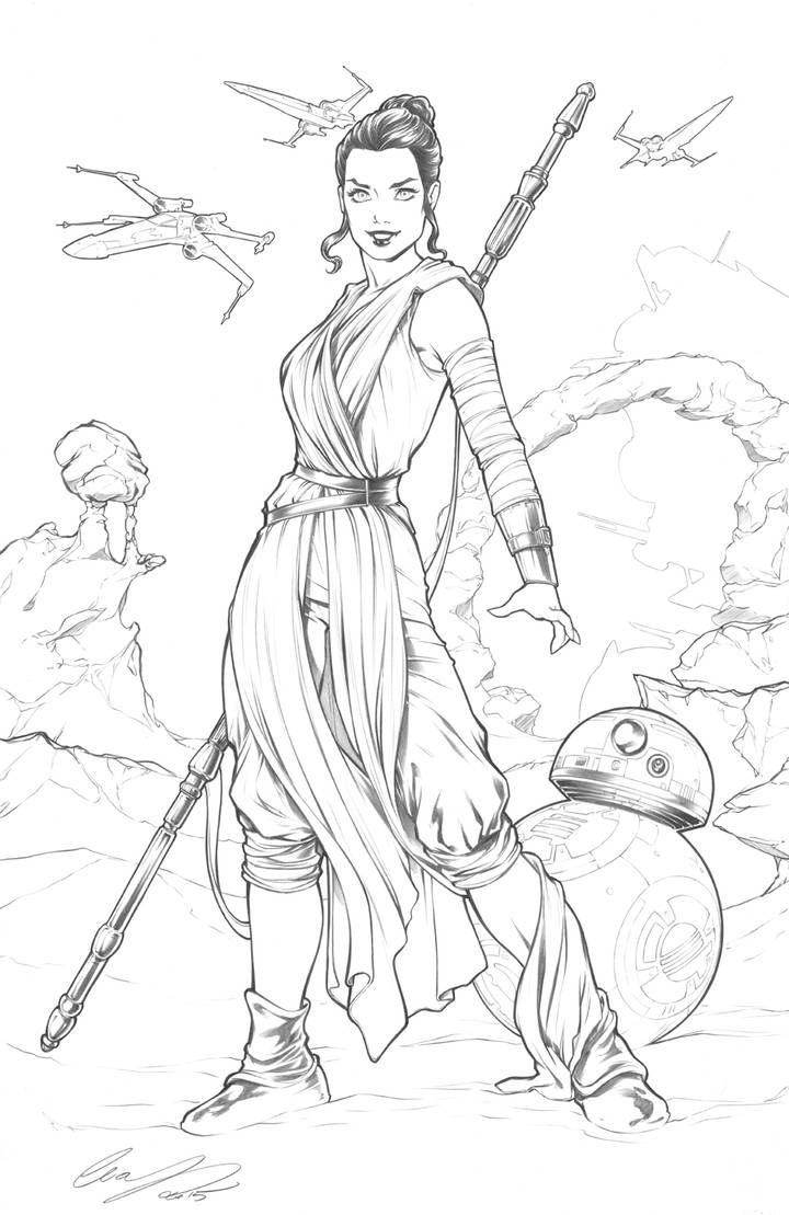 star wars rey coloring pages rey star wars by elias chatzoudis on deviantart star wars coloring rey pages star
