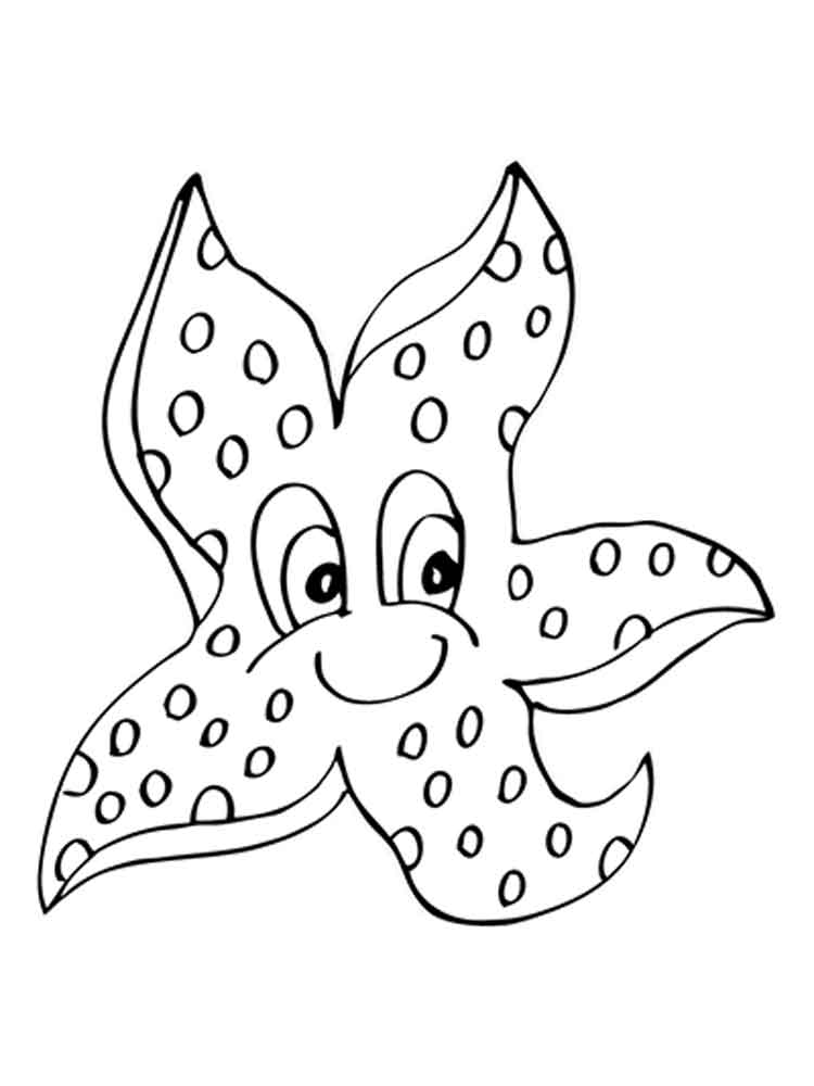 starfish to color printable starfish coloring pages for kids cool2bkids starfish color to