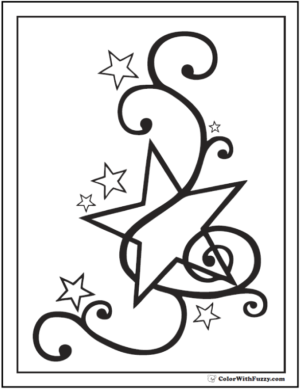 stars coloring page 60 star coloring pages customize and print ad free pdf page coloring stars