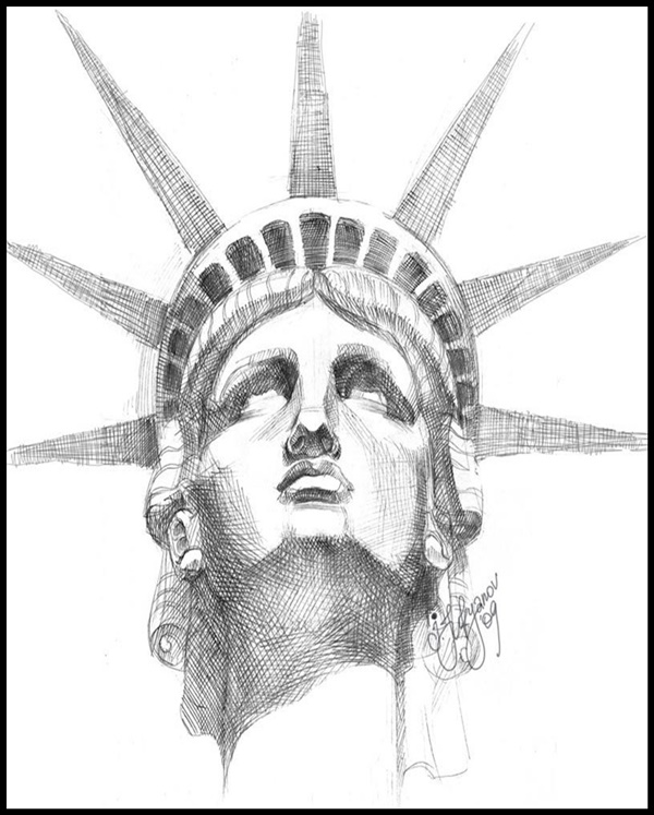 statue of liberty drawings 40 easy and beautiful statue of liberty drawings and sketches drawings liberty of statue