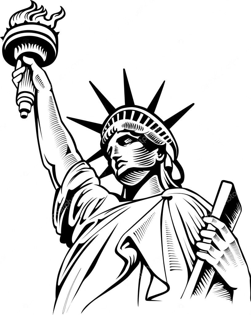 statue of liberty drawings clipart statue of liberty line art of liberty drawings statue