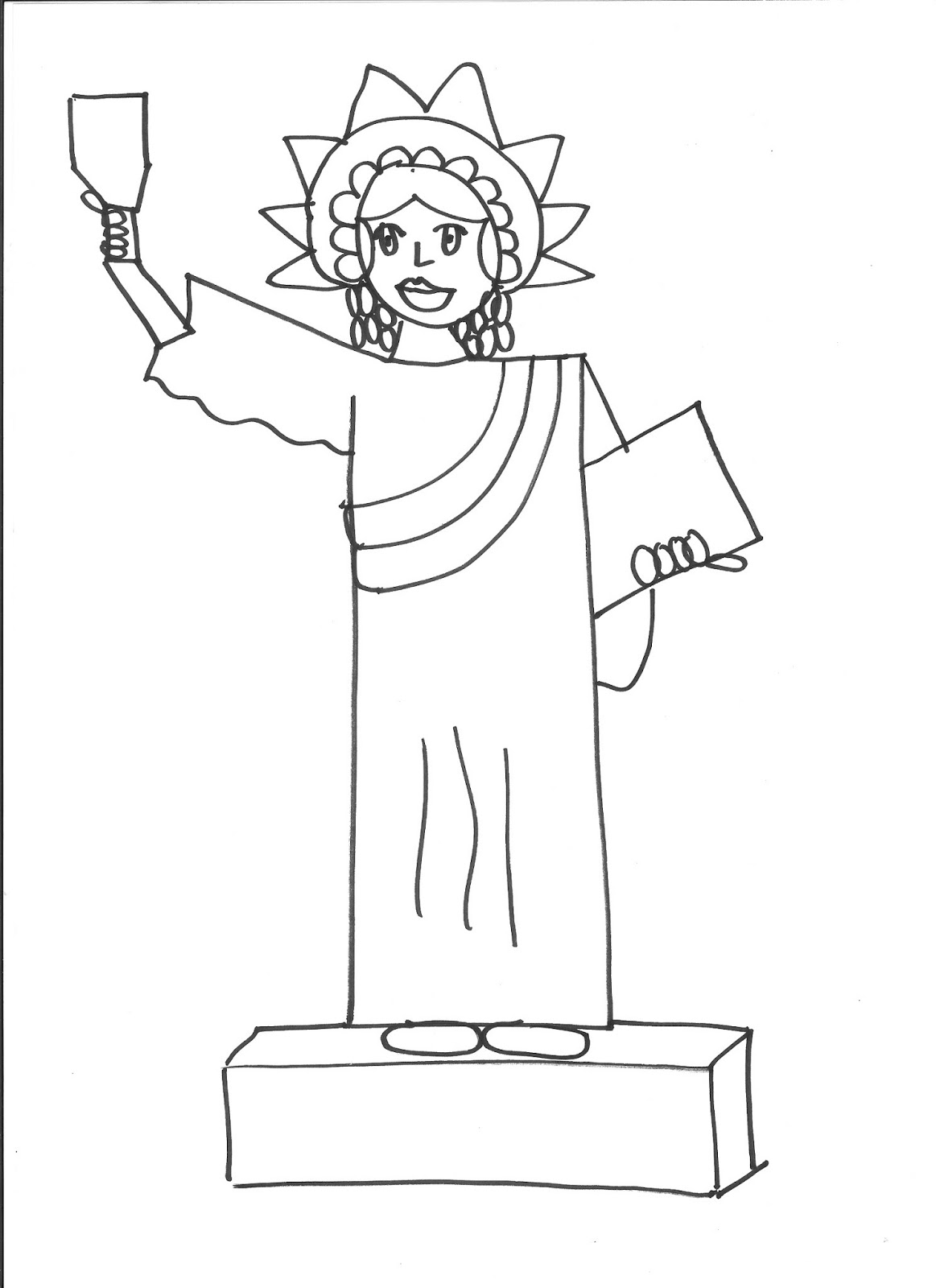 statue of liberty drawings how to draw the statue of liberty drawingforallnet drawings statue of liberty