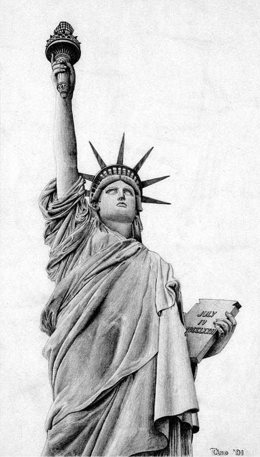 statue of liberty drawings statue of liberty 1 by mdtartist83 on deviantart drawings liberty statue of
