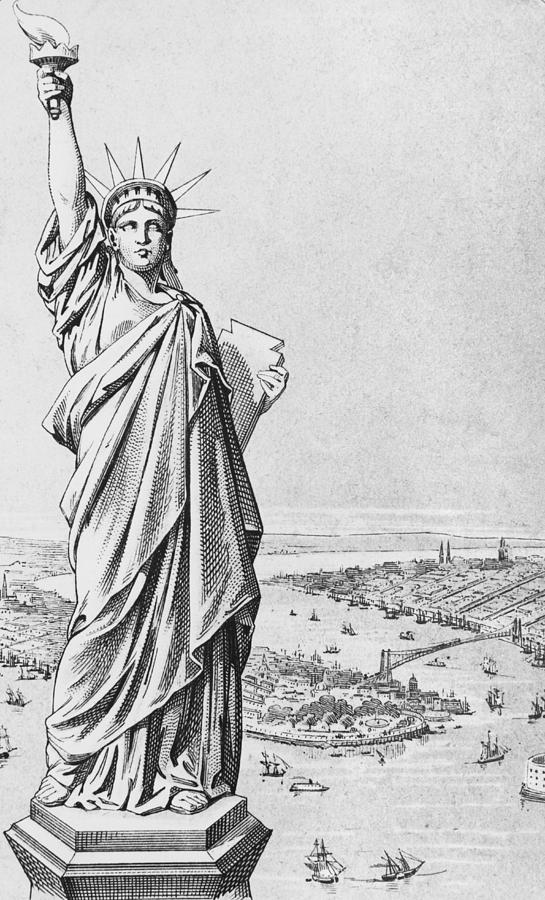 statue of liberty drawings the statue of liberty new york drawing by american school statue of drawings liberty