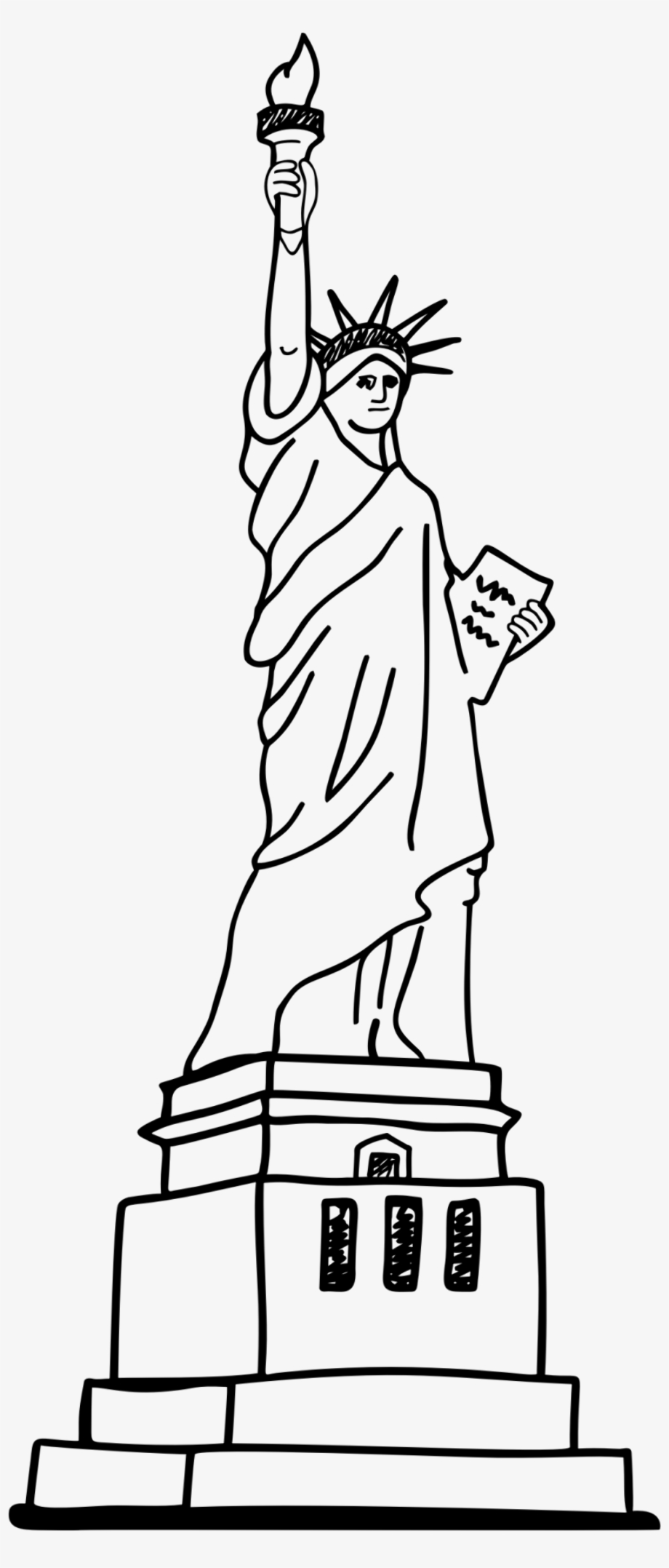statue of liberty outline download high quality statue of liberty clipart easy of liberty statue outline
