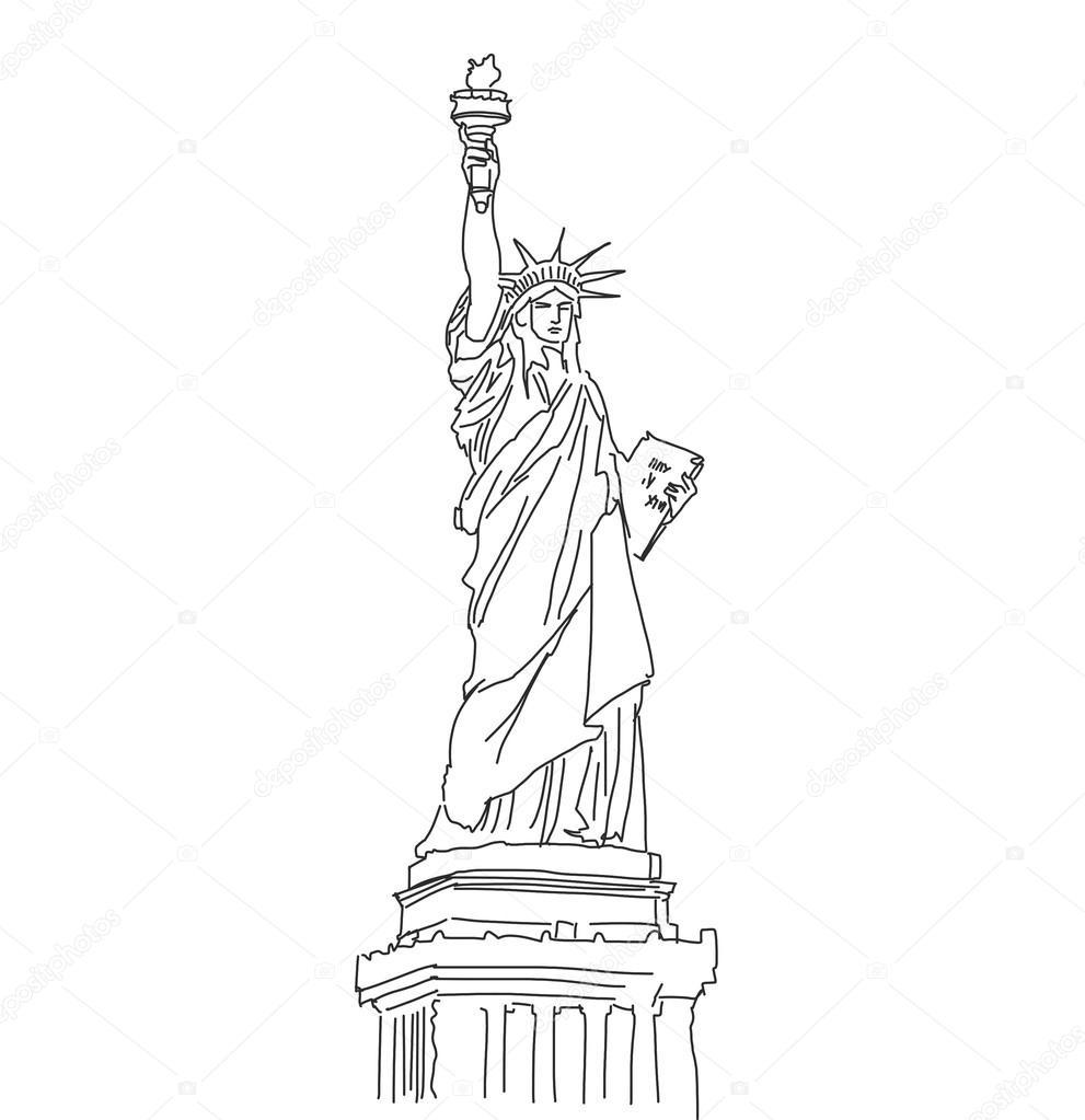 statue of liberty outline download high quality statue of liberty clipart stencil outline of liberty statue