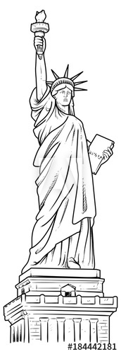 statue of liberty outline free craft patterns for everyday arts crafts patriotic statue outline liberty of