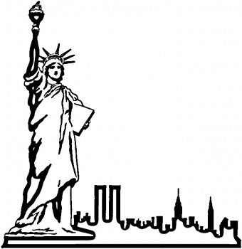 statue of liberty outline outline of statue of liberty clipart best of liberty statue outline