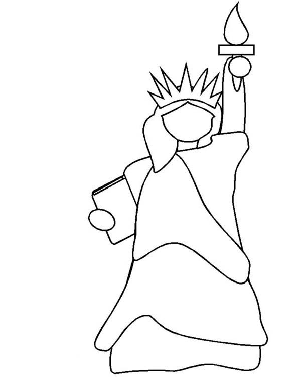 statue of liberty outline statue of liberty art clipartsco of outline statue liberty