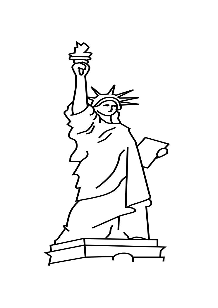 statue of liberty outline statue of liberty drawing outline at getdrawings free outline statue liberty of