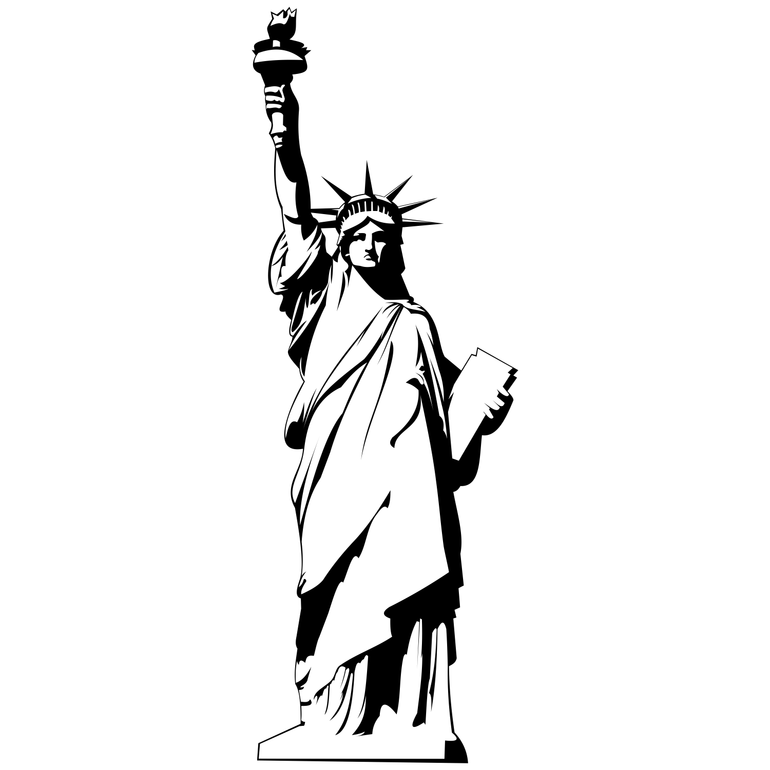 statue of liberty outline statue of liberty drawing outline clipart clipartingcom statue liberty outline of