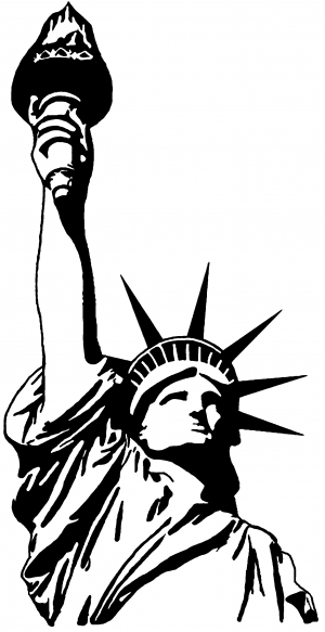 statue of liberty outline statue of liberty drawing outline clipartsco liberty outline of statue