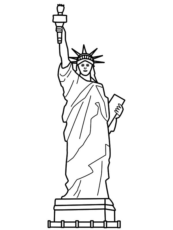 statue of liberty outline statue of liberty drawing outline free download on outline liberty of statue