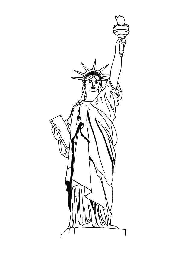 statue of liberty outline statue of liberty new york coloring lesson kids coloring of outline statue liberty