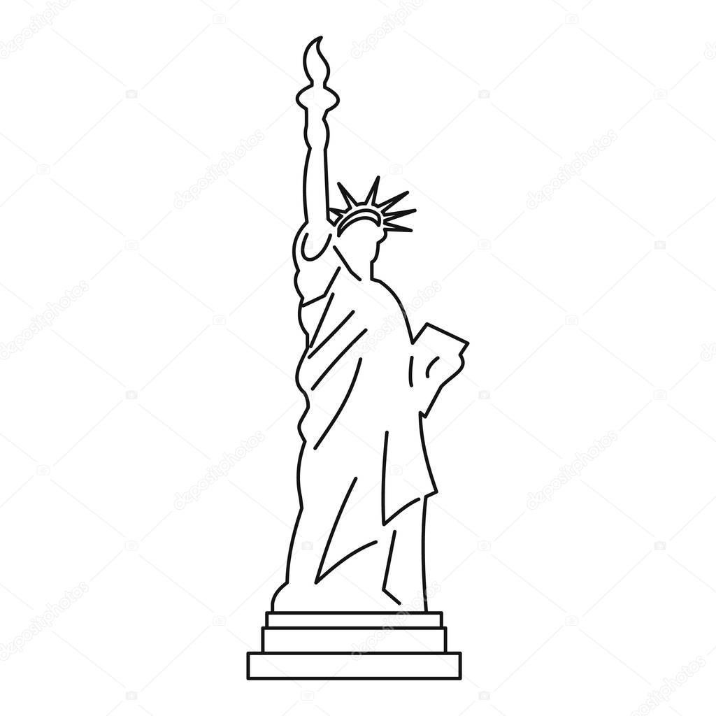 statue of liberty outline statue of liberty new york outline illustration isolated statue of liberty outline
