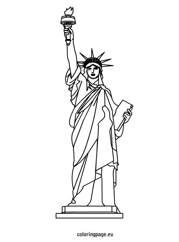 statue of liberty outline statue of liberty outline coloring page download print liberty statue outline of
