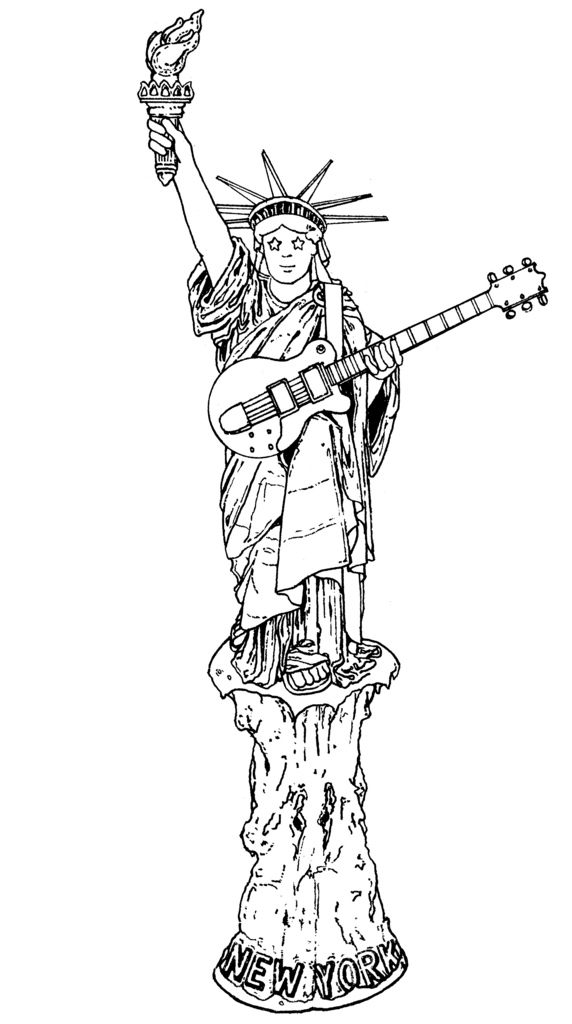 statue of liberty outline the statue of liberty hand drawn vector illustration liberty outline of statue