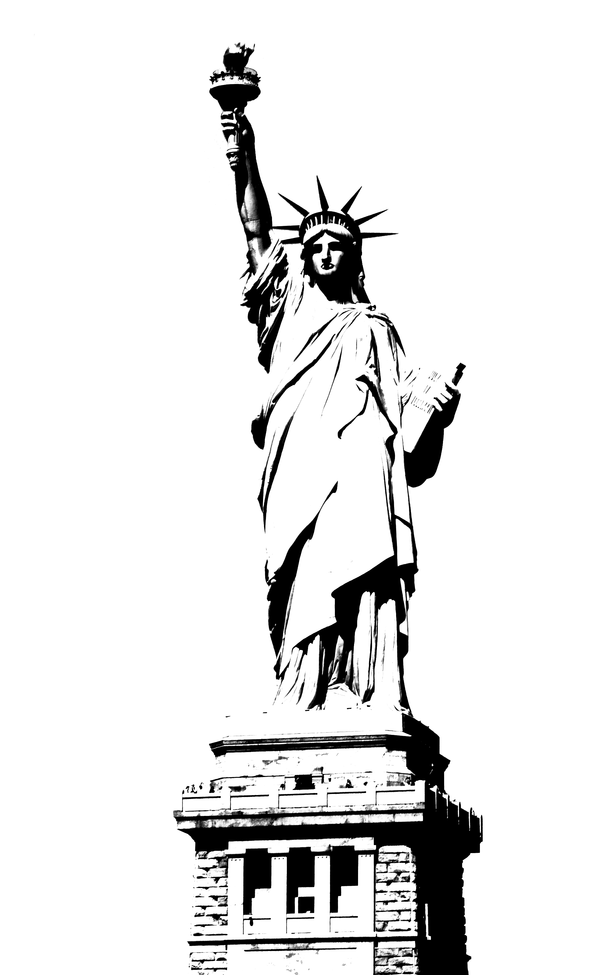 statue of liberty outline the statue of liberty hand drawn vector illustration of liberty statue outline