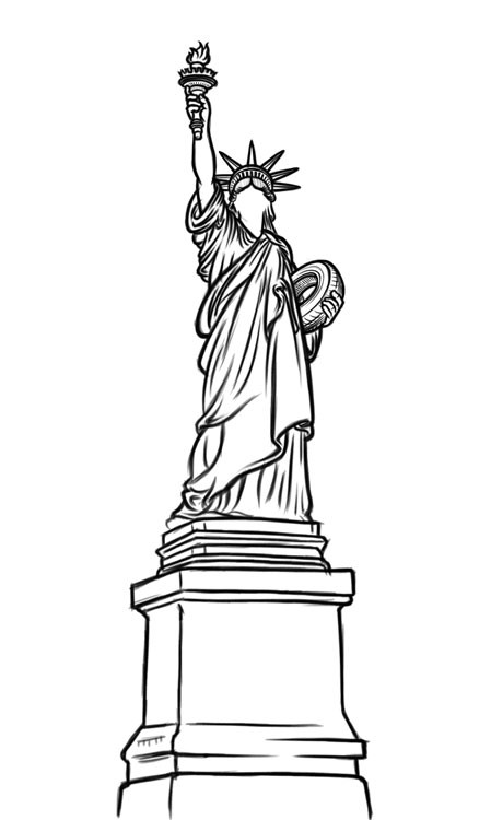 statue of liberty sketch download high quality statue of liberty clipart sketch liberty sketch of statue