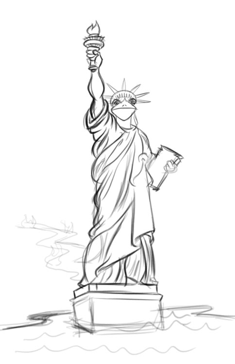 statue of liberty sketch how to draw the statue of liberty clipart best of sketch liberty statue