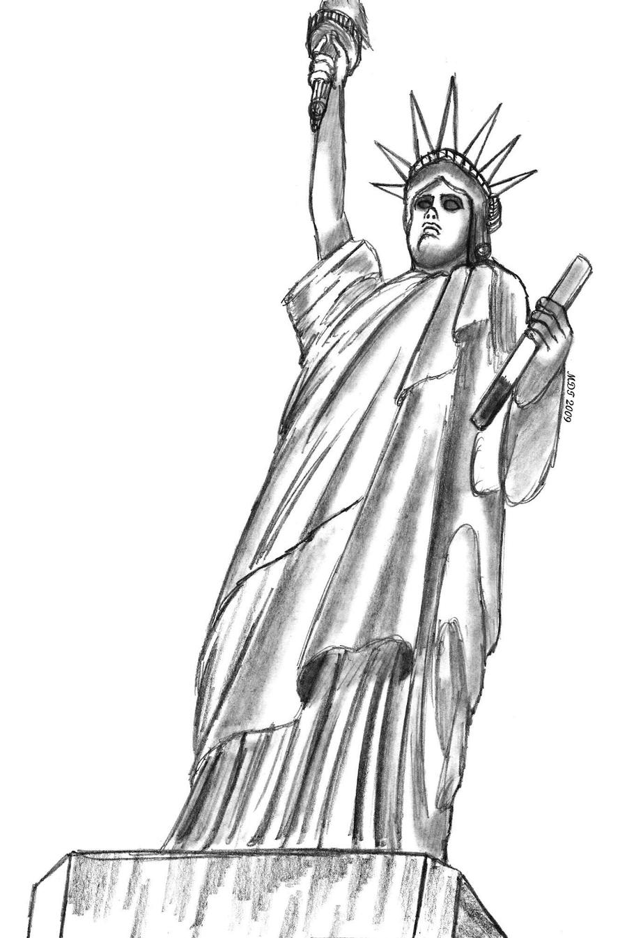 statue of liberty sketch how to draw the statue of liberty drawingforallnet sketch liberty of statue