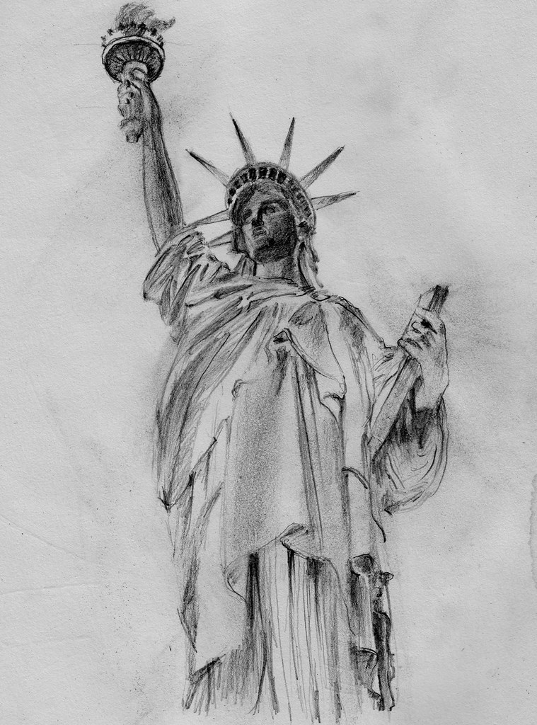 statue of liberty sketch how to draw the statue of liberty step by step pictures sketch of liberty statue
