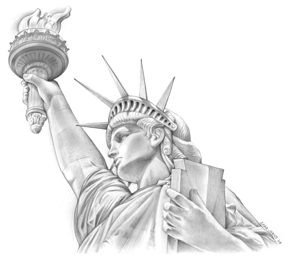 statue of liberty sketch liberty statue sketch at paintingvalleycom explore sketch of liberty statue