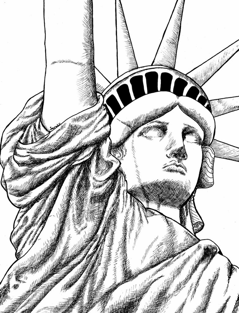 statue of liberty sketch statue of liberty drawing free download on clipartmag liberty of statue sketch