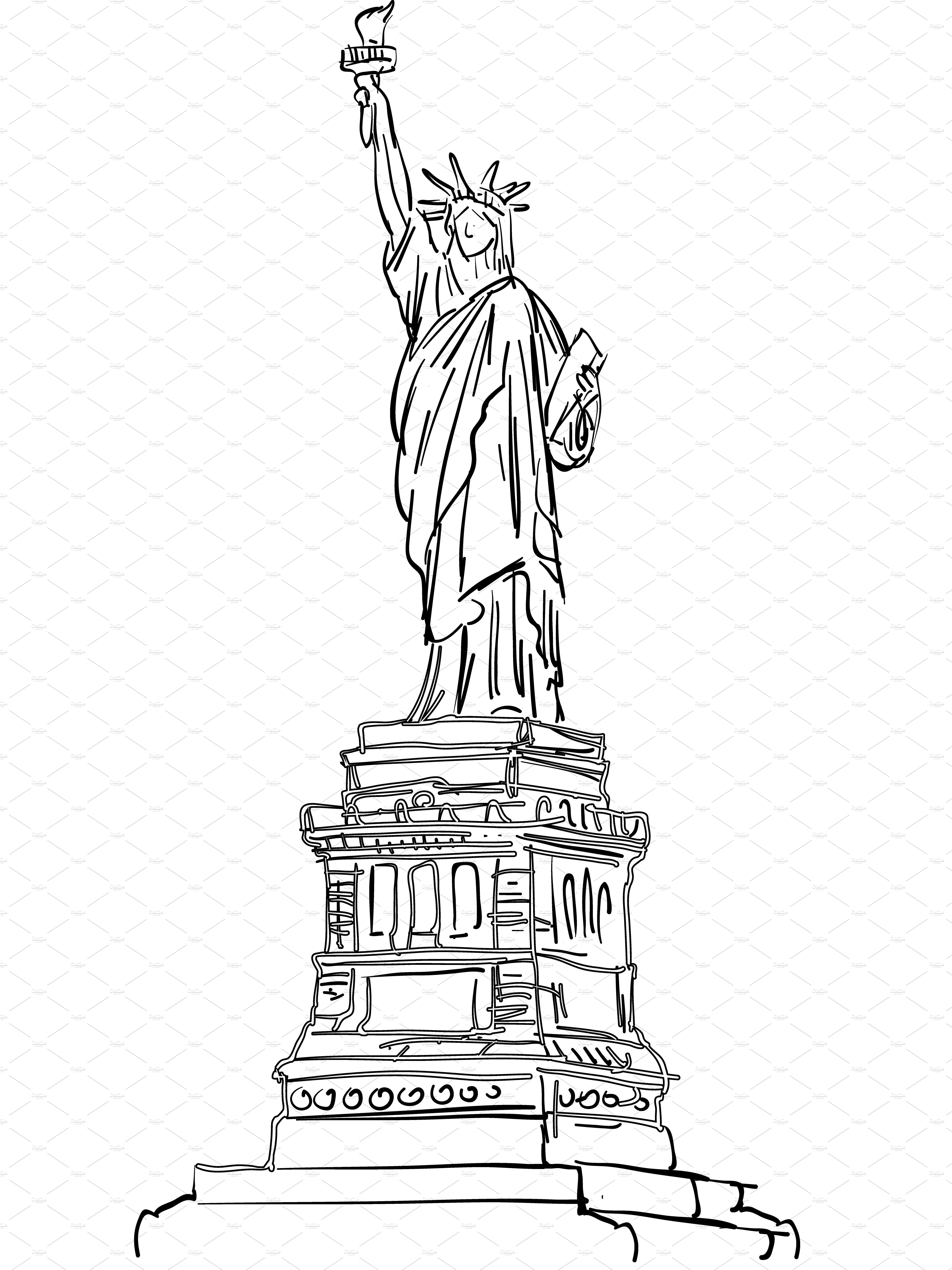 statue of liberty sketch statue of liberty drawing outline clipartsco statue of liberty sketch