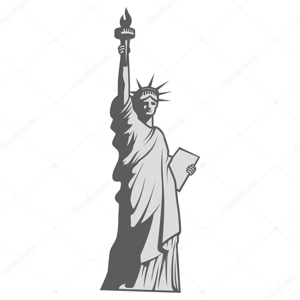 statue of liberty vector statue of liberty icon on black and white vector liberty of statue vector