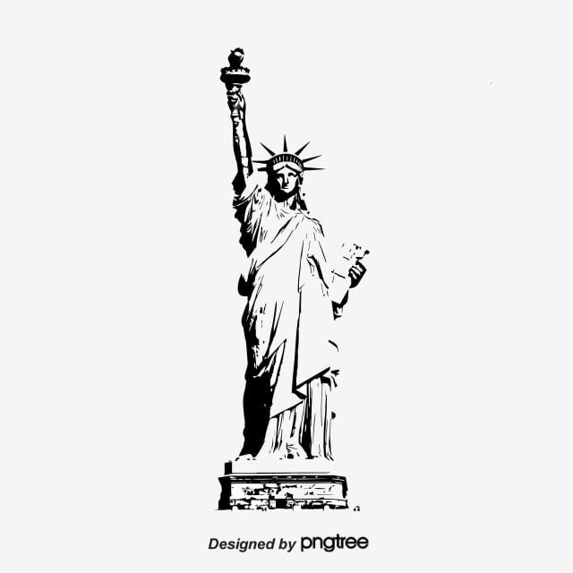 statue of liberty vector statue of liberty vector black shadows silhouette stock liberty of statue vector