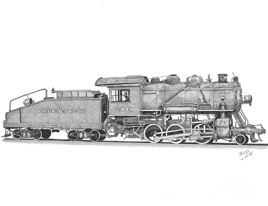 steam engine drawing steam train drawing at paintingvalleycom explore drawing steam engine