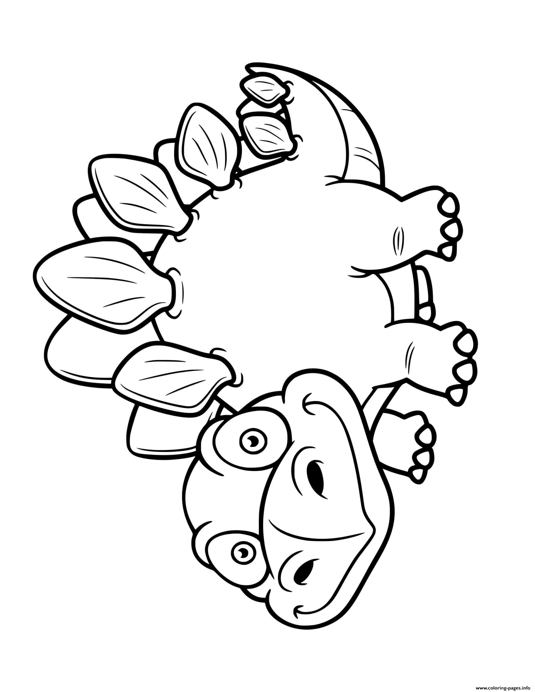 stegosaurus pictures to color funny stegosaurus dinosaur cartoon coloring pages for kids to stegosaurus pictures color