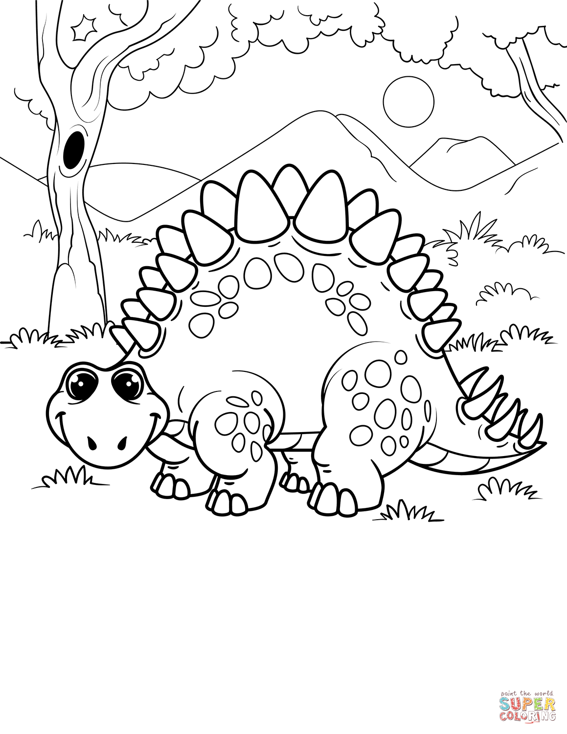 stegosaurus pictures to color stegosaurus coloring page free printable coloring pages color pictures to stegosaurus