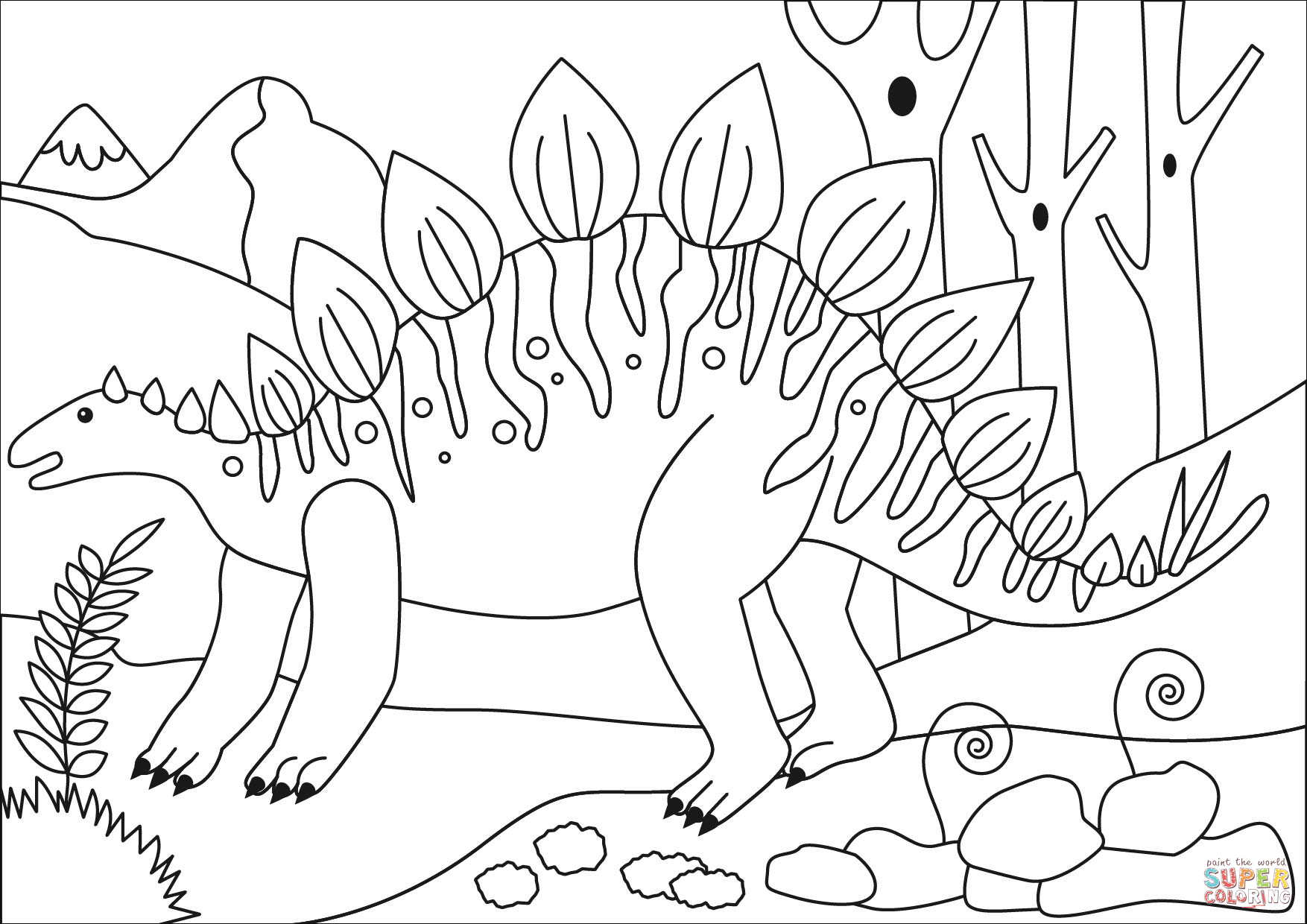 stegosaurus pictures to color stegosaurus drawing at getdrawings free download pictures to color stegosaurus