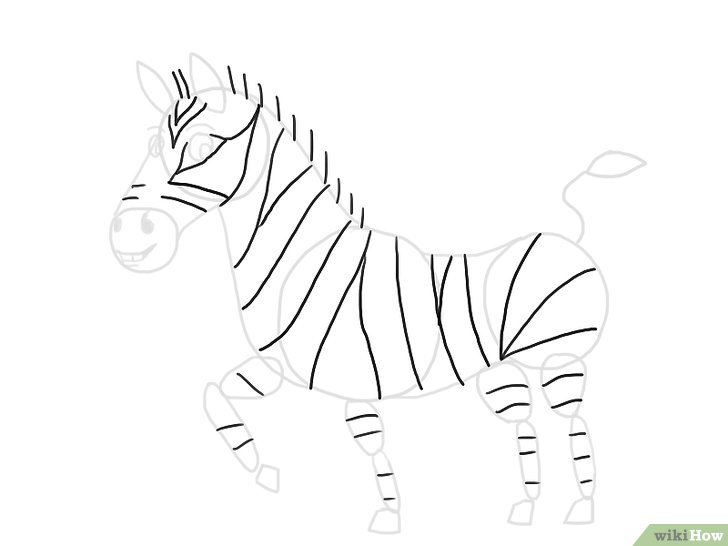 step by step how to draw a zebra come disegnare una zebra con immagini wikihow draw zebra a step step how by to