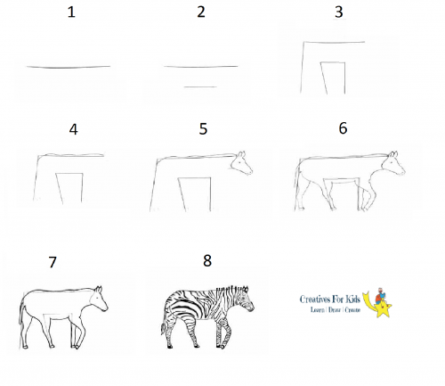 step by step how to draw a zebra how to draw a zebra step by step palooza pinterest step by zebra a how to step draw
