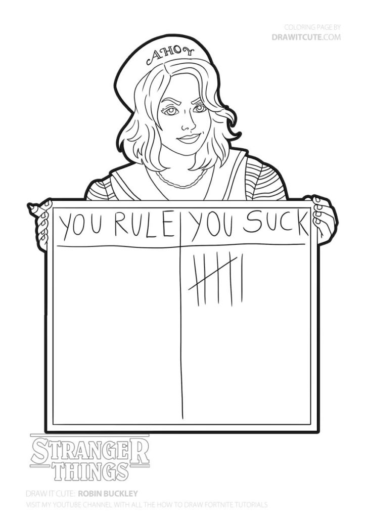 stranger things 3 coloring sheet how to draw millie bobby brown as eleven stranger things sheet 3 coloring stranger things