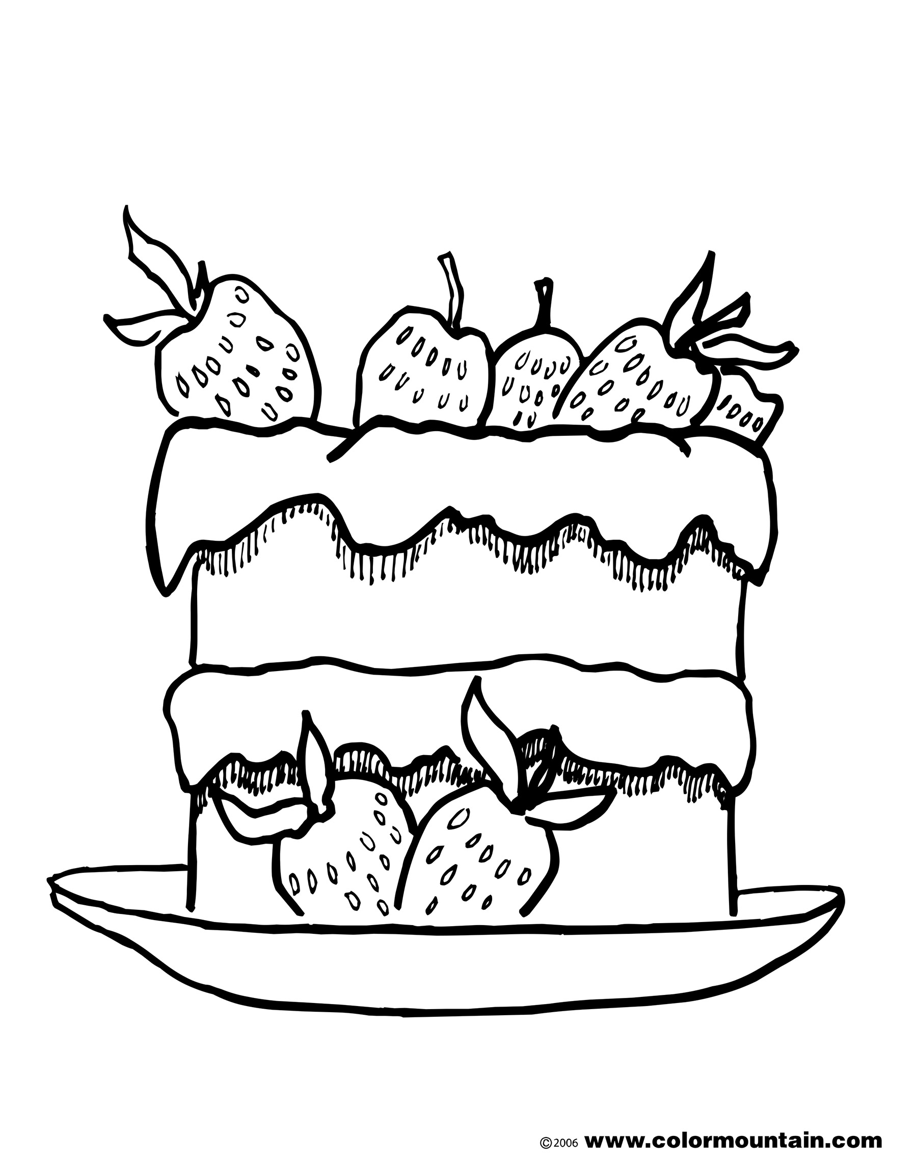 strawberry cake coloring pages double decker strawberry cake coloring page create a coloring cake strawberry pages