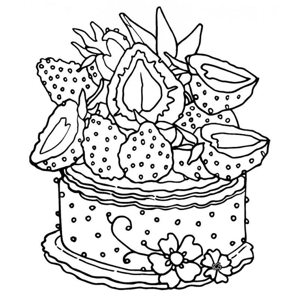 strawberry cake coloring pages free printable birthday cake coloring pages for kids coloring pages strawberry cake