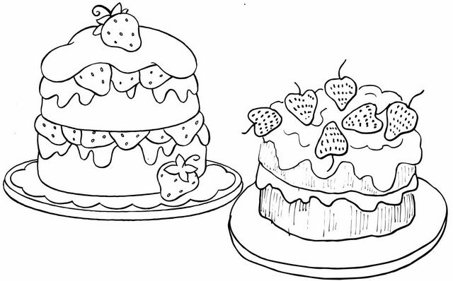 strawberry cake coloring pages strawberry cake clipart strawberry cake clipart food cake coloring pages strawberry