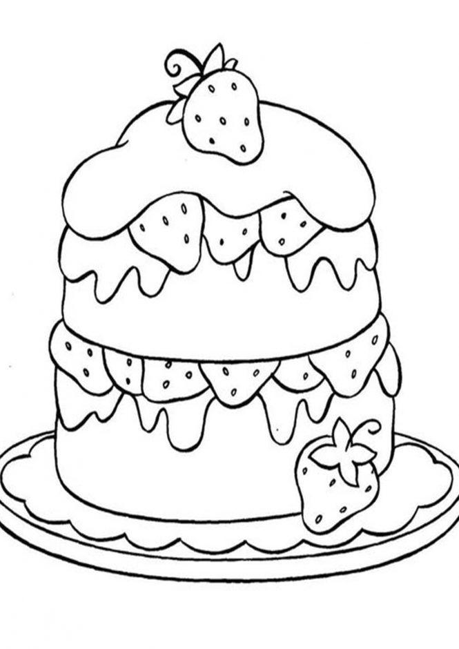 strawberry cake coloring pages strawberry cake coloring page free coloring page pages coloring cake strawberry